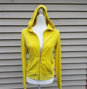 JUICY COUTURE LARGE FRONT ZIPPER VELOUR sweater